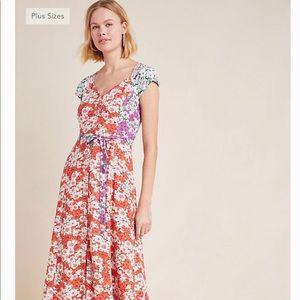 Maxi dress mixed print